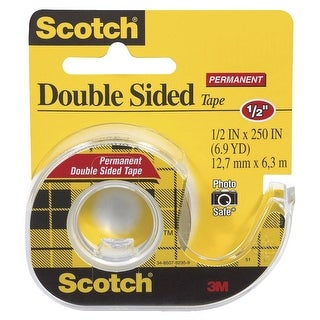 Scotch Double-Sided Tape with Dispenser, 0.50 x 250 Inches, Clear