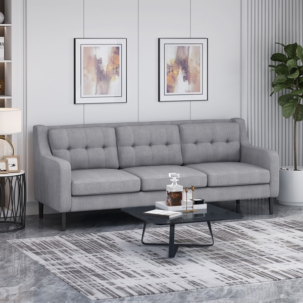 Reynard Tufted Fabric 3 Seat Sofa By Christopher Knight Home On Sale Overstock 29354887