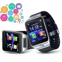 Indigi® Universal Bluetooth Sync (iOS & Android) SmartWatch + Phone w/ Optional SIM + Pedometer + Camera + SMS Notify