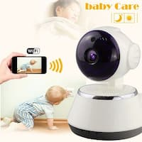 KANSTAR 720P HD WiFi Network Baby Monitor & Home Security Camera with Night Vision - White