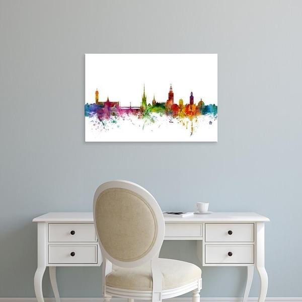 Easy Art Prints Michael Tompsett's 'Stockholm Sweden Skyline' Premium Canvas Art