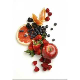 """""""Collection of fruit on white background"""" Poster Print"""