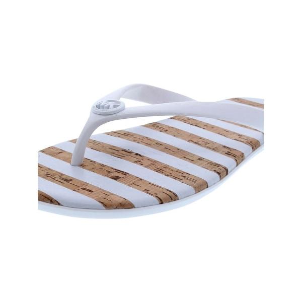 MICHAEL Michael Kors Womens Jet Set Jelly Flip-Flops Striped Logo - 11  medium ( 9cf807bbea57