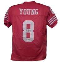 Shop Autographed Ronnie Lott San Francisco 49ers Throwback Red ... ec5eb5da9
