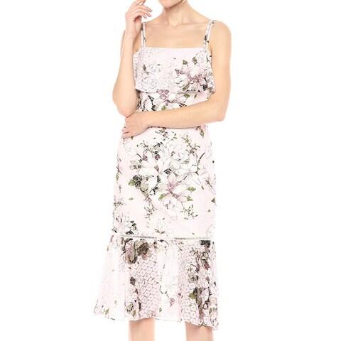 Rachel Rachel Roy Purple Womens Size 12 Floral Lace Sheath Dress