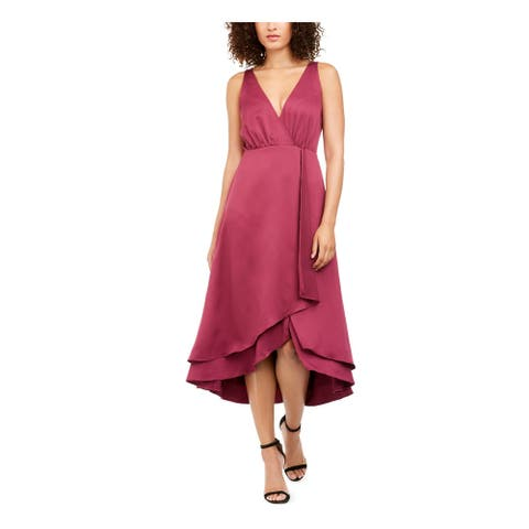 FRENCH CONNECTION Burgundy Sleeveless Below The Knee Dress 4