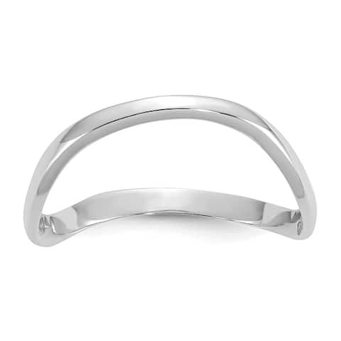 10K White Gold High Polished Wave Fashion Thumb Ring by Versil