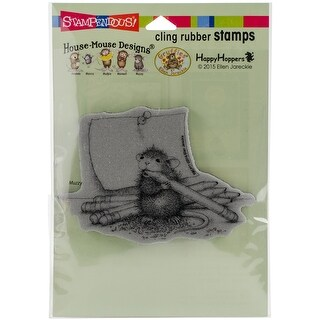 "Stampendous House Mouse Cling Stamp 6.5""X4.5""-Pencil Sharpener"