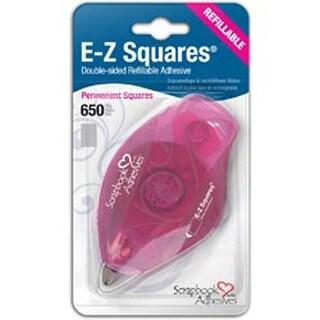 Permanent - Scrapbook Adhesives E-Z Squares Refillable Dispenser 650/Pkg