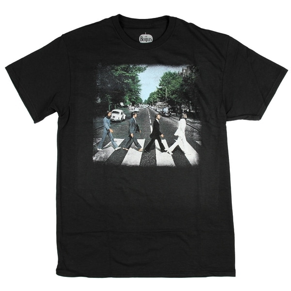 29bd10e2 Shop The Beatles Abbey Road Men's Black T-Shirt Distressed Album Cover  Picture - On Sale - Free Shipping On Orders Over $45 - Overstock - 19758905