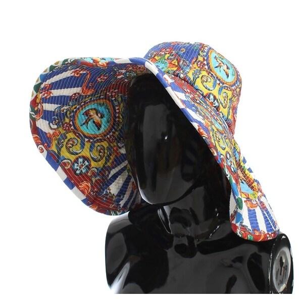 39bc98cd81b Dolce  amp  Gabbana Dolce  amp  Gabbana Carretto Print Wide Brim Bucket Hat