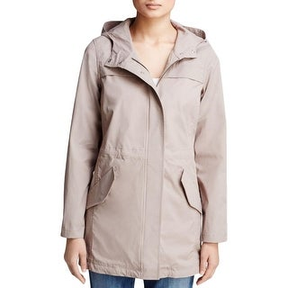 NYDJ Womens Anorak Jacket Twill Hooded