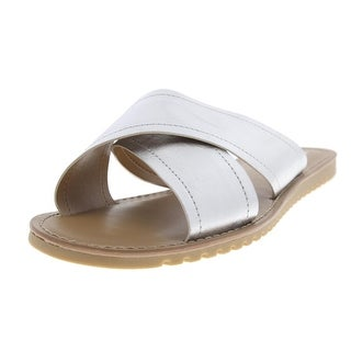 Franco Sarto Womens Quentin Faux Leather Casual Slide Sandals - 7.5 medium (b,m)