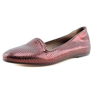 George J. Love 1110 Women Round Toe Synthetic Purple Flats