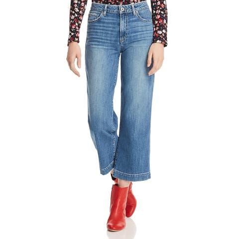 Paige Womens Nellie Cropped Jeans Denim Distressed - Leigh