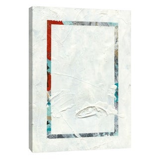 """PTM Images 9-105127  PTM Canvas Collection 10"""" x 8"""" - """"Frosted Geometry 1"""" Giclee Abstract Art Print on Canvas"""