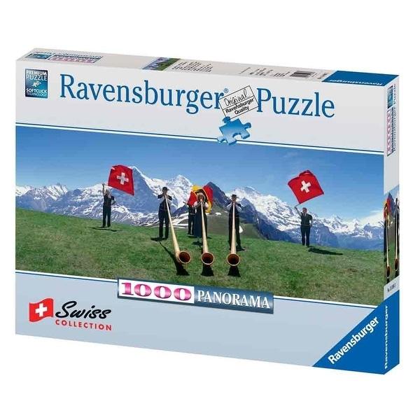 Ravensburger Swiss Flag Wavers 1000 Piece Puzzle