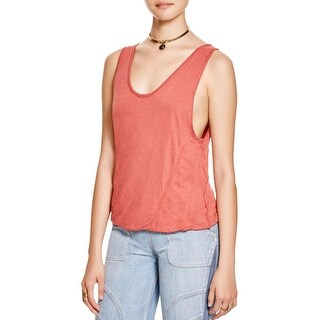 Free People Womens Crop Top Linen Sleeveless