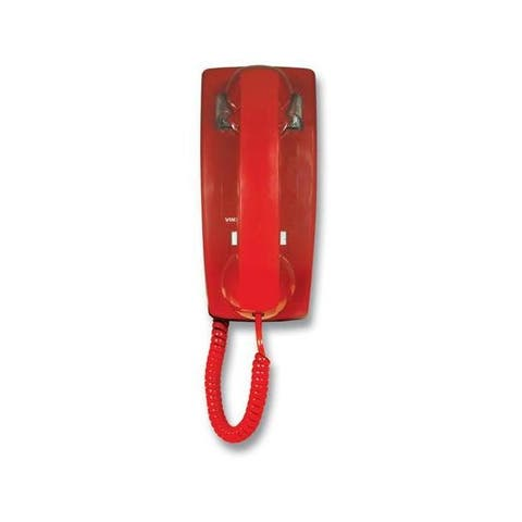 Viking k-1900w-2 hotline wall phone - red