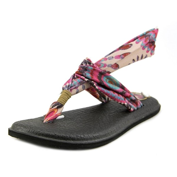 Sanuk Yoga Sling 2 Prints Women Open Toe Canvas Multi Color Thong Sandal