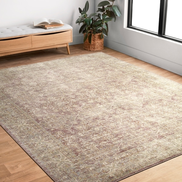 Alexander Home Austen Antique Washed Traditional Inspired Area Rug. Opens flyout.