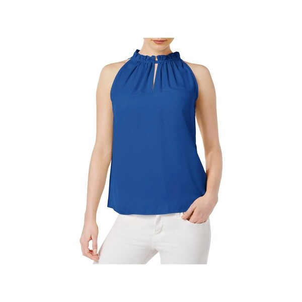 48fe47ae2502a Shop Kensie Womens Halter Top High-Neck Crepe - Free Shipping On ...