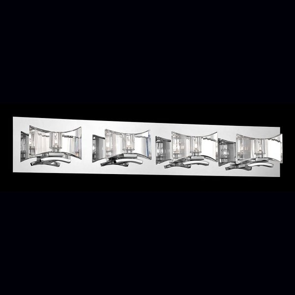 Eurofase Lighting 26349 Uzo 4 Light Crystal Bathroom Vanity Light