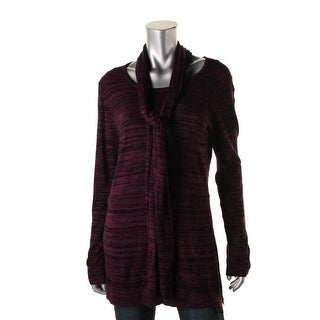 Cable & Gauge Womens Knit Marled Crewneck Sweater