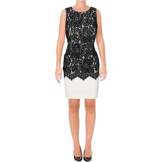 Lauren Ralph Lauren Womens Petites Wear to Work Dress Lace Sleeveless