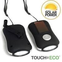 Miniflash Solar & Crank Flashlight Bright And Compact Portable Light