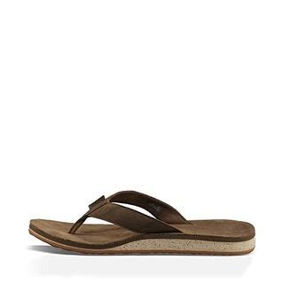 Teva Mens Leather Slide Flip-Flops - 8