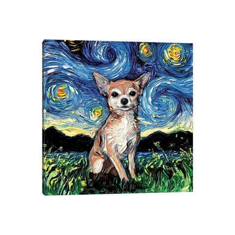 "iCanvas ""Chihuahua Night"" by Aja Trier Canvas Print"