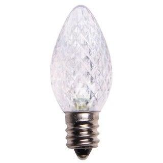 Wintergreen Lighting 43231 C7 Dimmable Cool White LED Christmas Light Bulbs - Pack of 25