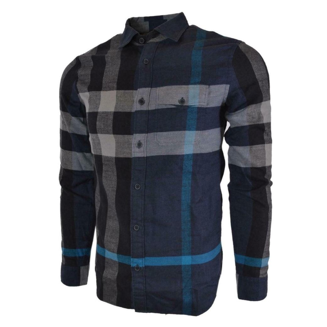 mens burberry print shirt