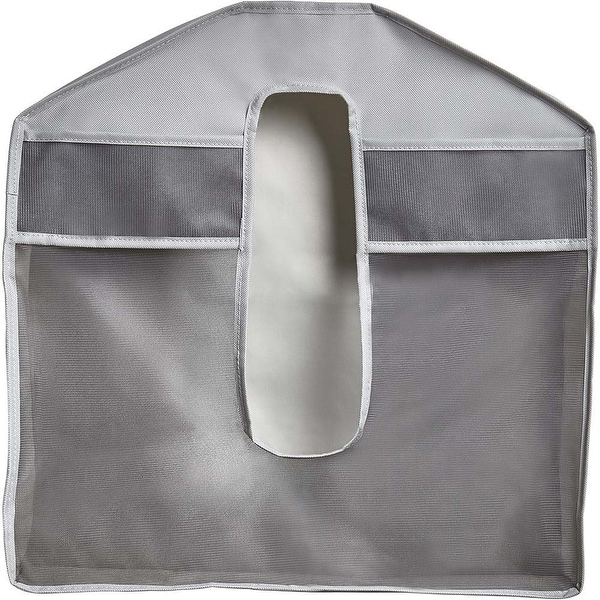 Umbra 1010377 Set of Two Stash Polyester Over the Rod Garment Bags - Gray
