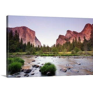 """Valley with  sunset"" Canvas Wall Art"