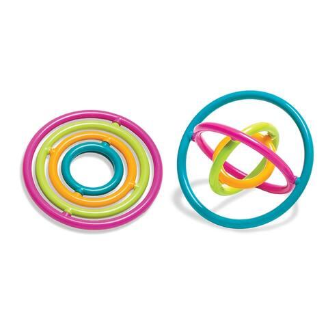 (6 Ea) Gyrobi Plstc Ring Fidget Toy