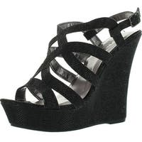 Styluxe Twin-08 Womens Sling Back Buckle Strap Sandal Wedge