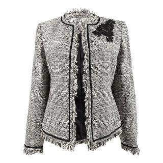 Link to Kasper Women's Embellished Tweed Blazer - Gunmetal Multi Similar Items in Suits & Suit Separates
