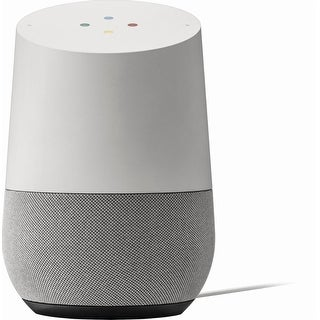 Google - Home - White/Slate fabric Speaker