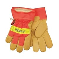 Kinco 1938-M Safety Cuff Lined Pigskin Leather Work Gloves