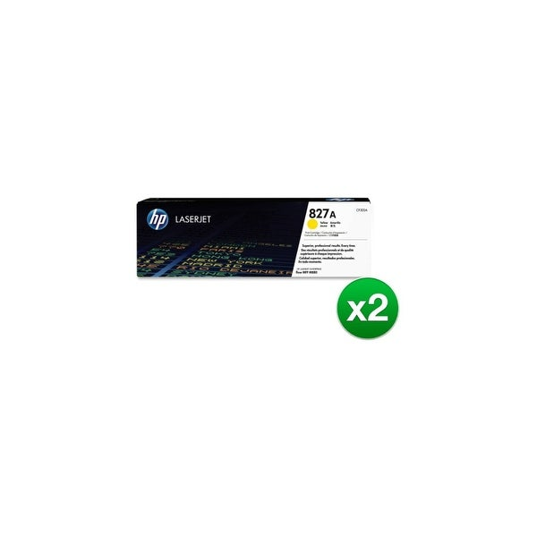 HP 827A Yellow Original LaserJet Toner Cartridge (CF302A)(2-Pack)