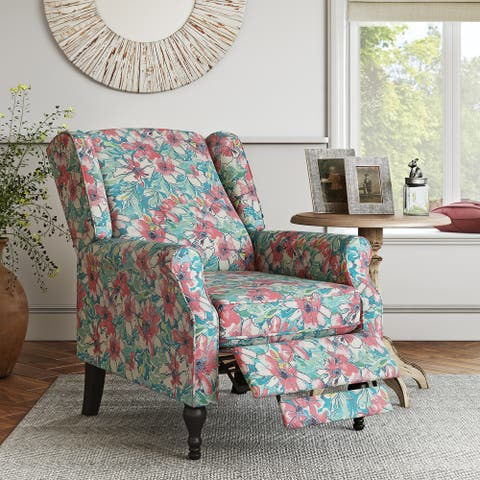 Copper Grove Hale Wingback Push Back Recliner Chair