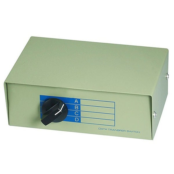 Monoprice 4x1 DB25 Female Manual Data Switch Box