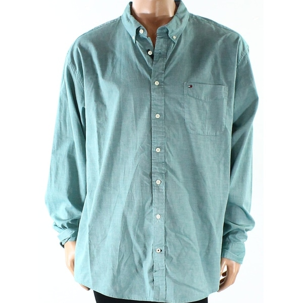 6c60495b Shop Tommy Hilfiger NEW June Bug Green Mens Size 2XL Capote Button Down  Shirt - Free Shipping On Orders Over $45 - Overstock - 19625244