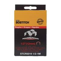 "Stanley Bostitch STCR50191/2-1M Crown Staples 1/2"", 1000/Pack"