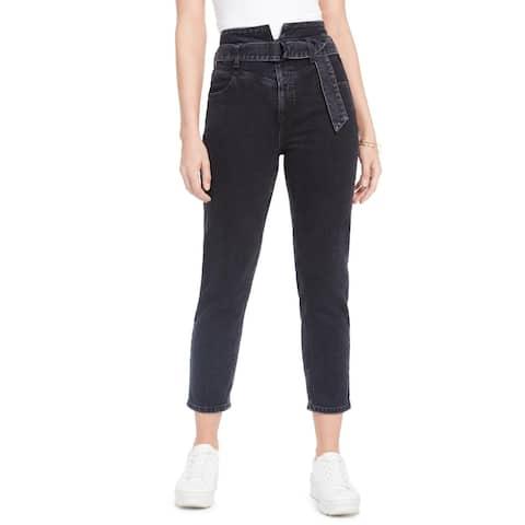 Guess Womens 80s Straight Leg Jeans Denim High Waist - Night Owl