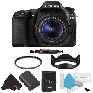 Canon EOS 80D DSLR Camera with 18-55mm Lens Bundle