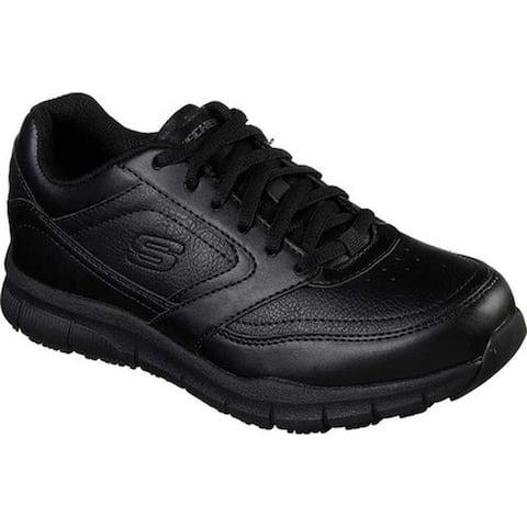 Skechers Women's Work Relaxed Fit Nampa Wyola Slip Resistant Shoe Black