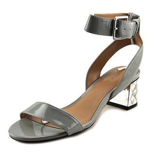 Nine West Shineon Women Open Toe Synthetic Gray Sandals
